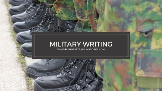 Military Writing Training