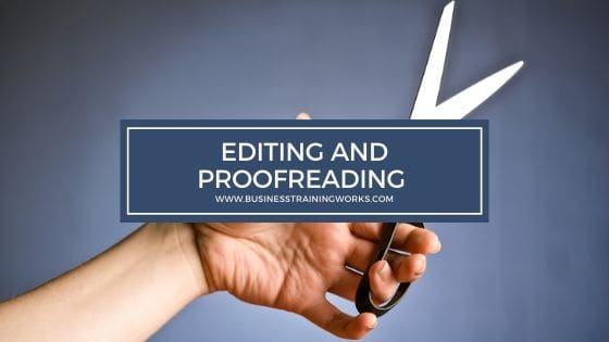 Editing and Proofreading Training