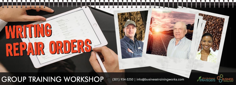 Repair Order Training Course