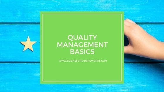Online Quality Management Course