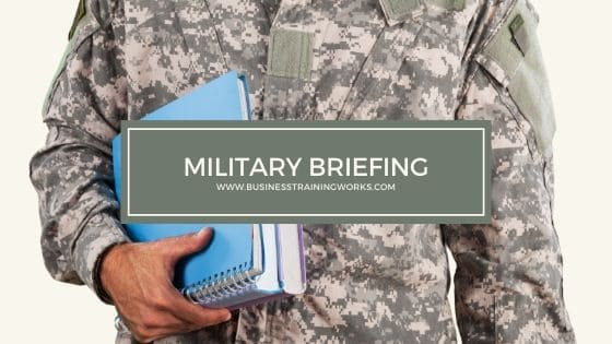 Military Briefing Training