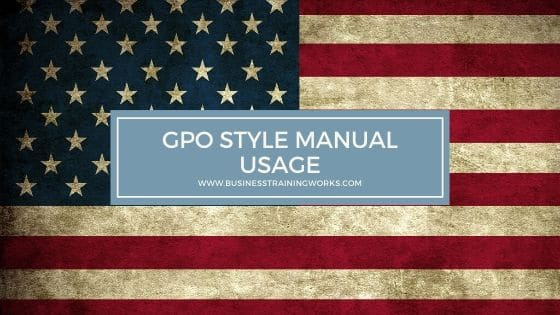 GPO Style Guide Usage Training
