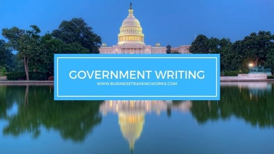Government Writing Training