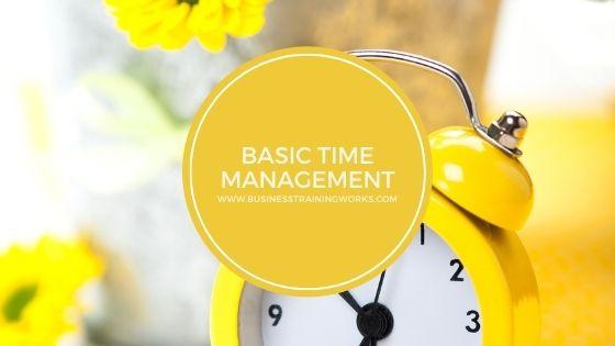 Basic Time Management Training