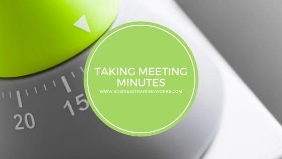 Minute-Taking Webinar