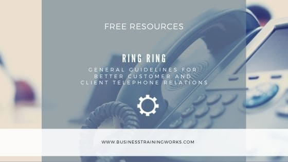 Telephone Customer Service Tips